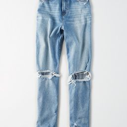 AE Stretch Ripped Curvy Mom Jean | American Eagle Outfitters (US & CA)