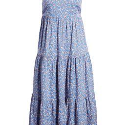 Tie Strap Tiered Midi Dress | Nordstrom