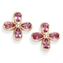 Bezel Bouquet Daisy Pink Tourmaline Stud Earrings | Nordstrom