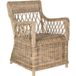 Hinaku Rattan Arm Chair - Natural - Safavieh | Target