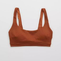 Aerie Waffle Banded Wide Strap Scoop Bikini Top | American Eagle Outfitters (US & CA)