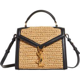 Saint Laurent Mini Cassandra Woven Top Handle Bag   Nordstrom   Nordstrom