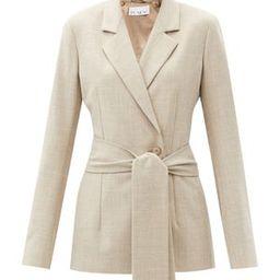 Belted wool-blend suit jacket   Raey   MATCHESFASHION   Matchesfashion (Global)
