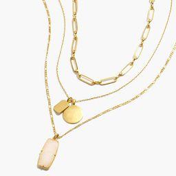 White Jade Necklace Set   Madewell