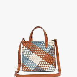 The Small Transport Crossbody: Multicolored Woven Leather Edition   Madewell