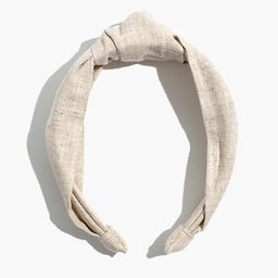 Knotted Covered Headband   Madewell