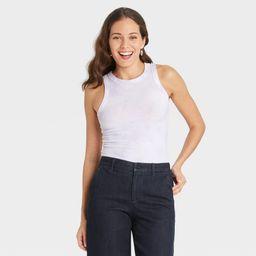 Women's Tie-Dye Slim Fit Rib Tank Top - A New Day™   Target