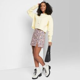 Women's High-Rise Notch Mini Skirt - Wild Fable™   Target