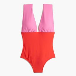 V-neck one-piece swimsuit | J.Crew Factory