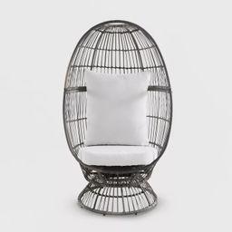 Latigo Swivel Patio Egg Chair Brown - Opalhouse™   Target