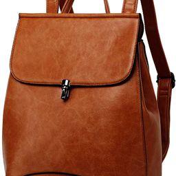 WINK KANGAROO Fashion Shoulder Bag Rucksack PU Leather Women Girls Ladies Backpack Travel bag (br... | Amazon (US)