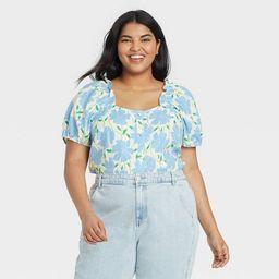 Women's Puff Short Sleeve Button-Down Shirt - Who What Wear™ | Target