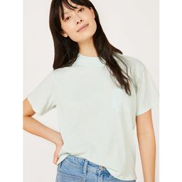Free Assembly Women's Boxy Cropped Mock Neck T-Shirt with Short Sleeves   Walmart (US)
