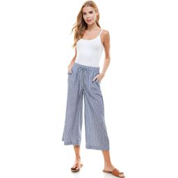 T&S by Thread & Supply Women's Wide Leg Crop Pants | Sam's Club