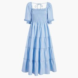 The Nesli Nap Dress - Light Blue Glitter Check | Hill House Home