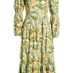 Floral Long Sleeve Midi Dress | Nordstrom