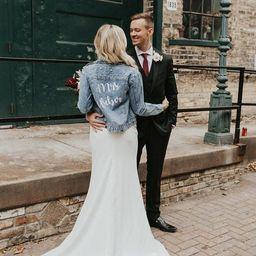 Custom Pearl Denim Jacket Mrs, Custom jacket for bride, Babe jacket, Bridesmaid Denim jacket, Bri...   Etsy (US)