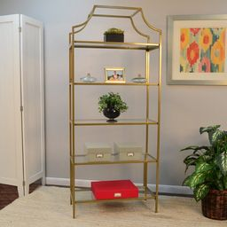 "Malmberg 70.625"" H x 30'' W Metal Etagere Bookcase   Wayfair North America"
