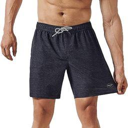 Mens Quick Dry Solid 4 Way Stretch Swim Trunks Mesh Lining Swimwear Bathing Suits   Amazon (US)