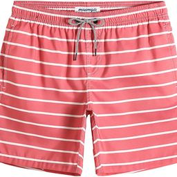 Mens Quick Dry Printed Short Swim Trunks with Mesh Lining Swimwear Bathing Suits   Amazon (US)