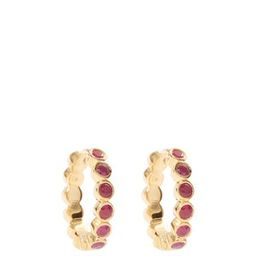 Ruby & gold-plated sterling-silver hoop earrings | Matchesfashion (Global)