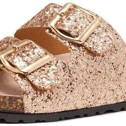 Softey Women's Comfort Buckled Slip on Sandal Casual Cork Platform Sandal Flat Open Toe Slide Sho... | Amazon (US)