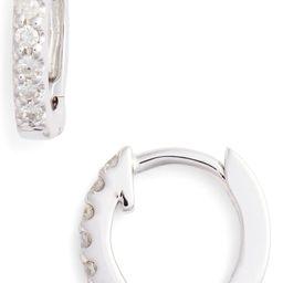 Mini Diamond Huggie Hoop Earrings   Nordstrom
