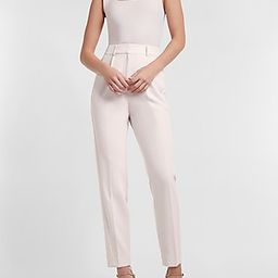 High Waisted Pleated Ankle Pant   Express