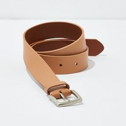 AEO Square Buckle Leather Belt | American Eagle Outfitters (US & CA)