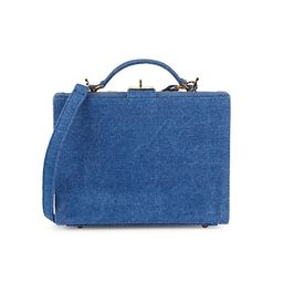 The Briefcase Woven Straw & Denim Bag | Saks Fifth Avenue OFF 5TH