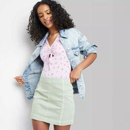 Women's Seamed Denim Mini Skirt - Wild Fable™   Target
