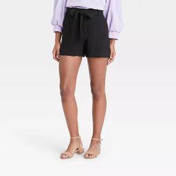 Women's High-Rise Tie Waist Shorts - A New Day™ | Target
