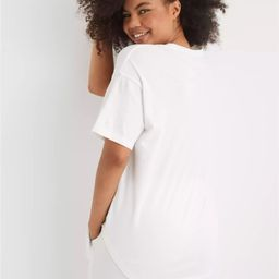 Aerie Distressed Boyfriend T-Shirt | American Eagle Outfitters (US & CA)