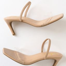 Kaylie Light Nude Square Toe High Heel Sandals   Lulus (US)