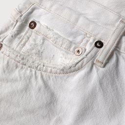 Parker White High-Waisted Cutoff Denim Shorts | Lulus (US)