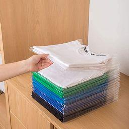 Zubulun 20 Pack Wardrobe Folding Board Tee Shirt Organizer Clothing Dividers File Organizers - St... | Amazon (US)