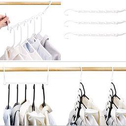HOUSE DAY White Magic Hangers Space Saving Clothes Hangers Organizer Smart Closet Space Saver Pac... | Amazon (US)