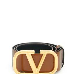 V-logo reversible leather belt | Matchesfashion (Global)