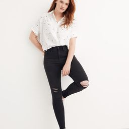 """9"""" Mid-Rise Skinny Jeans in Black Sea 