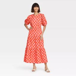 Women's Puff Short Sleeve Dress - Who What Wear™ | Target