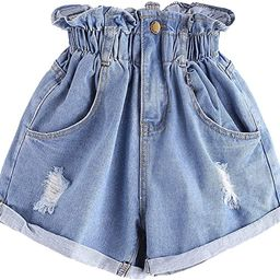 Women's Casual High Waisted Hemming Denim Jean Shorts with Pockets   Amazon (US)