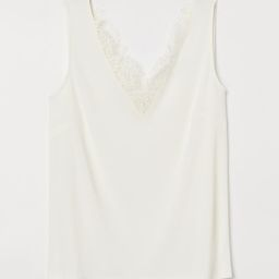 Sleeveless Lace-detail Top   H&M (US)