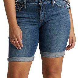 Silver Jeans Co. Women's Denim Shorts IND - Blue Elyse Denim Bermuda Shorts - Women & Plus | Zulily