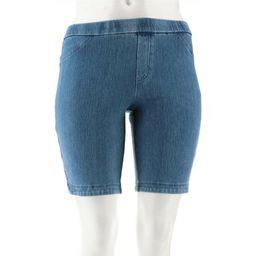 Isaac Mizrahi Petite Knit Denim Bermuda Shorts Women's A306568 | Walmart (US)