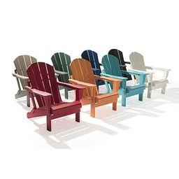 Laguna Outdoor Poly Folding Patio Adirondack Chair - Black   Overstock