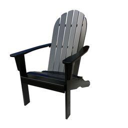 Mainstays Wood Outdoor Adirondack Chair, Black Color   Walmart (US)
