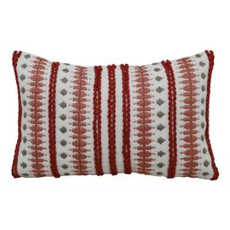 """Better Homes & Gardens 13"""" x 19"""" Outdoor Toss Pillow, Red Woven   Walmart (US)"""