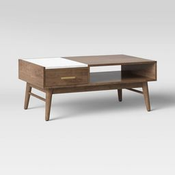 Mid-Century Wood/Marble Coffee Table Brown - Project 62™ | Target