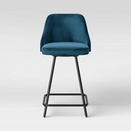 Tovin Adjustable Height Barstool Velvet - Project 62™ | Target