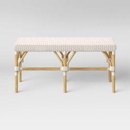 Perry Rattan Woven Bench Cream - Threshold™ | Target